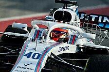 Formel 1 2018: Williams verpatzt Test, P4-Traum lebt trotzdem