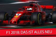 Formel 1 - Video: Formel 1 2018: Strecken, Fahrer, Regeln - das ist alles neu