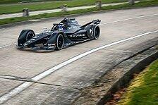 Neues Formel-E-Auto für 2018/19 von DS erstmals auf der Strecke