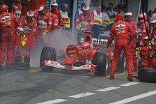 Formel 1 heute vor 17 Jahren: Schumacher siegt nach Feuer