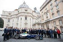 Formel E: Papst Franziskus gibt seinen Segen vor dem Rom ePrix