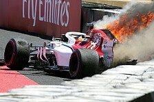 Formel 1, Ericsson ignoriert Feuer nach Crash: Spiegel war weg