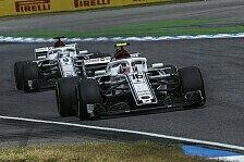 Formel 1 2018: Sauber stoppt Entwicklung, Regeln 2019 wichtiger