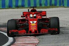 Formel 1 Ungarn: Vettel im 2. Training hauchdünn vor Verstappen
