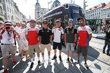 MotoGP Österreich 2018: Piloten mit der Straßenbahn durch Graz
