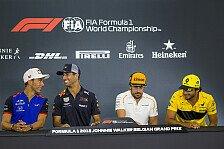 Formel 1 2018: Belgien GP - Donnerstag