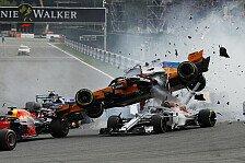 Formel 1 Spa 2018: Heftiger Startunfall, Halo rettet Leclerc