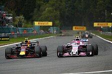 F1, Verstappen feiert Spa-Podium, Ricciardo sagt 'sorry, Kimi'