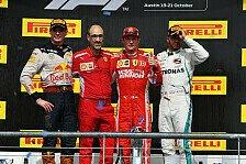 Formel 1 2018: USA GP - Podium