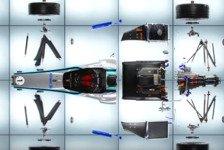 Formel E - Video: Formel E 2018/19: Gen2-Auto in seine Einzelteile zerlegt