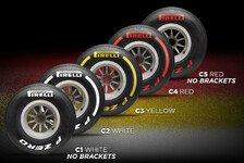 Formel 1 2019: Reifen mit Spezial-Markierung für Testfahrten
