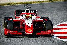 Mick Schumacher eröffnet zweiten Formel-2-Test mit P4
