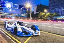 Formel E 2019: BMW-Rennauto in den Straßen von Hongkong