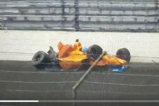 Fernando Alonso: Heftiger Crash beim Indy500-Training