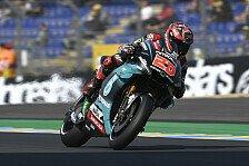 MotoGP Le Mans 2019: Quartararo im Warm Up vorn, Vinales stürzt
