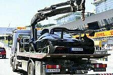 Legendenparade Spielberg: Bergers McLaren Senna fängt Feuer