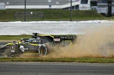 Formel 1 Silverstone, Renault-Absturz: Schaden, Defekt, schwach