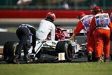 Formel 1 kurios: Räikkönen fährt nach Defekt auf Alfa weiter