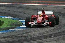 Formel 1 Mugello: Mick im Schumi-Ferrari, Histo-Lackierung