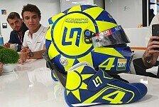 Lando Norris mit Valentino-Rossi-Helm: VR46-Fankult für Monza