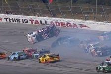 NASCAR - Video: NASCAR Talladega 2019: Crash-Festival inklusive Überschlag