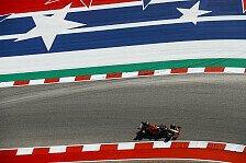 Formel 1 USA, 1. Training: Verstappen vor Vettel