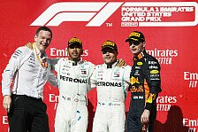 Formel 1 2019: USA GP - Podium