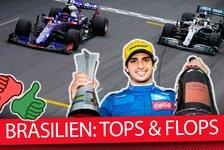 Formel 1 - Video: Team für Team: Die Tops & Flops vom Brasilien GP 2019