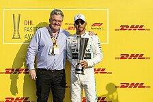 Formel 1 DHL Awards für Lewis Hamilton und Red Bull Racing
