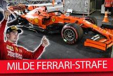 Formel 1 - Video: Leclerc im Glück: Warum wurde Ferrari nicht härter bestraft?
