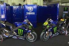Die neue MotoGP-Yamaha von Valentino Rossi und Maverick Vinales