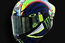 Valentino Rossis Helm für die MotoGP-Wintertests 2020