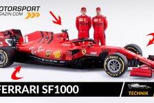 Formel 1 - Video: Formel 1 Autos 2020: Ferrari SF1000 im Technik-Check