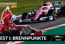 Formel 1 - Video: Formel 1: Lenktricks, Kopien & Co: Brennpunkte der 1. Testwoche