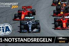 Formel 1 - Video: Neues Formel 1 Notstands-Reglement: So sieht es aus!