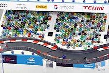 Völlig verrückt! Formel-E-Teams liefern sich irre Murmel-Rennen