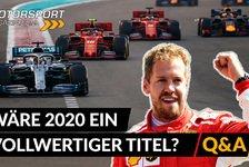 Formel 1 - Video: Formel 1: Wäre 2020 ein vollwertiger WM-Titel?