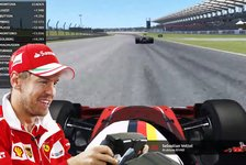Formel 1: So lief Sebastian Vettels erstes virtuelles Rennen