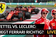 Formel 1 - Video: Formel 1: Vettel vs. Leclerc Setzt Ferrari aufs falsche Pferd?