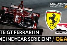Formel 1 - Video: Formel 1: Steigt Ferrari in die IndyCar Serie ein?