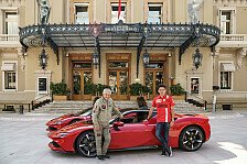 Formel 1: Charles Leclerc mit dem Ferrari SF90 in Monaco