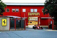 Formel 1, Leclerc fährt mit F1-Ferrari vom Werk an die Strecke