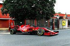 Bildergalerie: Leclerc fährt im F1-Ferrari vom Werk zur Strecke
