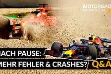 Formel 1 - Video: Formel 1 nach Pause: Mehr Fehler? Mehr Spannung? Mehr Unfälle?
