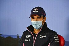 Formel 1 Silverstone, Sergio Perez nach Coronatest in Isolation
