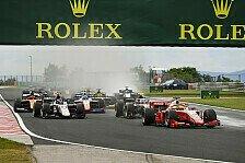 Einsparungen in Formel 2 und Formel 3: Mehr Rennen je Event