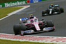 Formel 1 Ungarn - Stroll: Hätte Podium gegen Bottas verteidigt