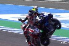 Supersport-WM Jerez: Kurioser Abschuss in der Aufwärmrunde!