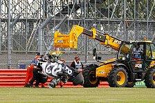 Formel 1 Silverstone: Rätsel um Kvyat-Crash