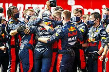 Formel 1 - Video: Formel 1 Silverstone: So feiern Max Verstappen & Red Bull